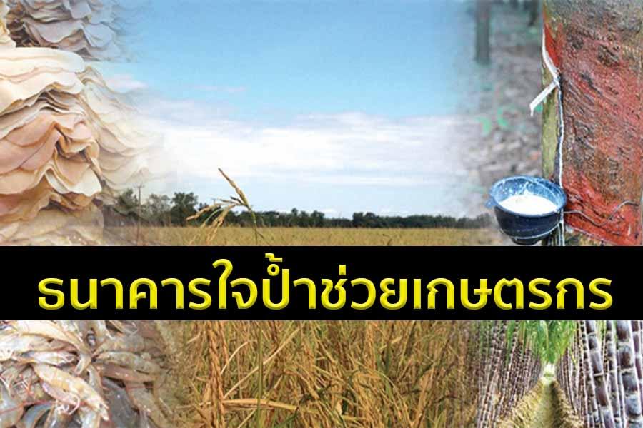 สมาคมธนาคารไทยช่วยลูกหนี้เกษตรกรรายย่อยเงินต้นไม่เกิน 2.5 ล้าน